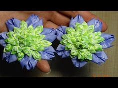 Интересный Лепесток Канзаши/Серединка Канзаши/Interesting petal kanzashi / The mid of kanzashi - YouTube