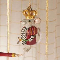 MacKenzie-Childs - The Nutcracker Ornament - Mouse King