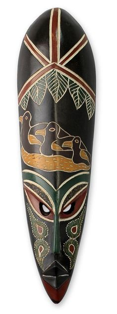 African wood mask - Good Mother   NOVICA