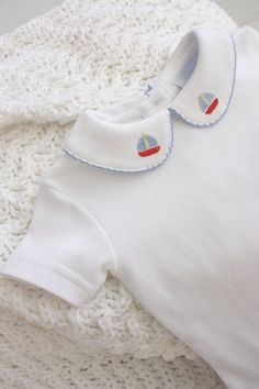 f704202b4 Sail away with tiny french knots for your little sailor! This pinpoint shirt  is by. Little English