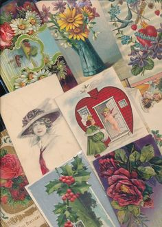 Antique  Mixed Lot of 25 Holidays & Greetings  Postcards-Vintage-ttt231 #HolidaysGreetings