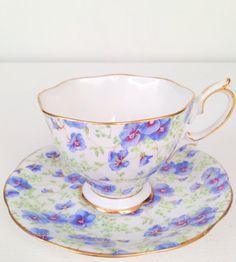 Vintage English Royal Albert Crown China Tea by MariasFarmhouse