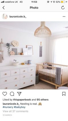 But With More Color Nursery Ikea Baby Room Ikea Nursery Ikea Baby Room, Ikea Crib, Baby Room Boy, Baby Bedroom, Baby Room Decor, Nursery Room, Girl Nursery, Girl Room, Ikea Baby Nursery