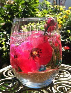 Gel Candle Lilac flowers and Angels Custom by TreenaRoseDesigns