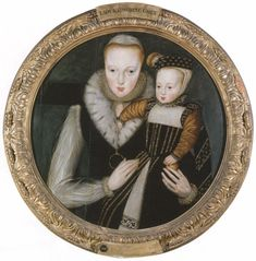 Catherine Grey, Countess of Hertford, BORN: c. 1538-DIED: 22 JANUARY 1568, and her first son,Edward, born to her while the Countess was ensconced within the Tower. A younger sister of Lady Jane Grey. It is recorded that Catherine was much disliked by Elizabeth I., due to the young woman's haughty manner.
