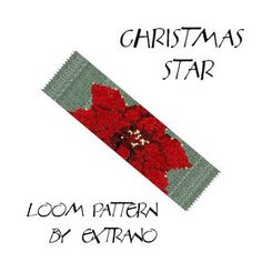 Loom bracelet pattern - CHRISTMAS STAR - Instant download by Extrano on Etsy