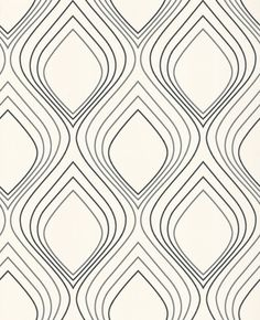 Love love love this patterna and maybe it would make a good background.I just worry about being too busy. Maybe if it can be softened to a gray? Geometric Patterns, Line Patterns, Graphic Patterns, Textile Patterns, Pretty Patterns, Color Patterns, 3d Pattern, Surface Pattern, Abstract Pattern