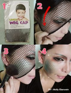 How to do scales face painting