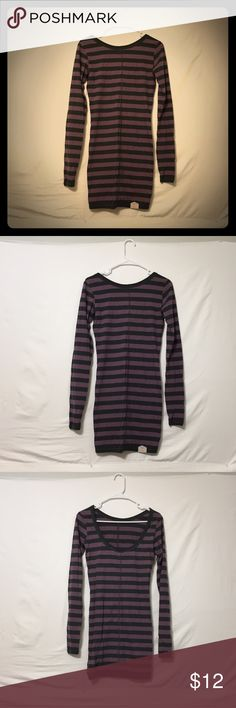 Superdry Striped Tube dress Wear with tights or leggings and booties or as a top! Superdry Dresses Long Sleeve
