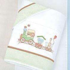 Jogo de Lençol de Carrinho Nature Verde - Biramar - Baby Enxoval - BabyEnxoval