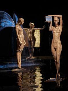Бронзовый фонтан воды скульптуры Малгожата Chodakowska (9)
