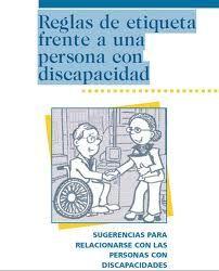Libro: Reglas de etiqueta frente a una persona con discapacidad