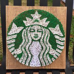 Starbucks String Art by StringsbySamantha on Etsy