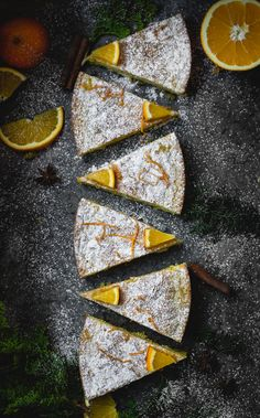 saffron cake with poppy seeds and white chocolate.