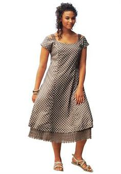 Polka Dot Dress by Taillissime® | Plus Size Casual Dresses | OneStopPlus