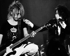 Akira (Reita) and Takanori (Ruki) the GazettE. REITUKI!!! ♡>ω<