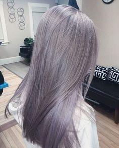 Pin by Unicorn on Hair in 2020 Grey Hair Braids, Grey Hair Wig, Lace Hair, Hair Color Streaks, Hair Color Purple, Hair Dye Colors, Korean Hair Color, Aesthetic Hair, Silky Hair