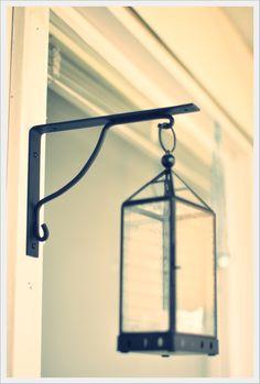 ikea shelf brace turned lantern hanger