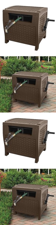 Hose Reels And Storage 46435: Suncast Mocha Wicker 175 Foot Capacity Hose  Reel Storage Garden