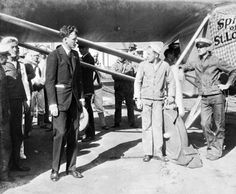 "Charles Lindbergh with the ""Spirit of St. Louis"": Jacksonville, Florida 