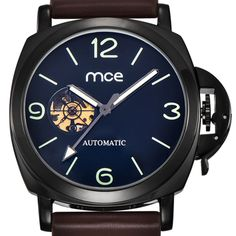 MCE watch for men fashion skeleton watches casual automatic mechanical watches leather wrist watch men 338 #Military Backpack