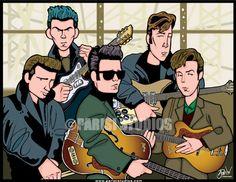 The Fab Five, the Beatles original lineup from their first trip trip Hamburg. The Beatles 1, Beatles Art, Framed Canvas Prints, Canvas Frame, Art Prints, John Lennon Paul Mccartney, Rock N Roll Music, The Fab Four, Artists