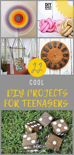 22 Cool DIY Projects for Teenagers. There are many cool DIY projects for teenagers out there, here are 22 of our favorite projects. There are many cool DIY projects for teens out there, here are a few of our favorites. Arts And Crafts For Teens, Crafts For Boys, Diy For Teens, Easy Crafts, Kids Diy, Teen Diy, Diy Crafts For Teen Girls, Homemade Crafts, Wood Projects For Kids