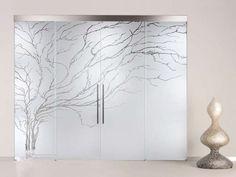 Porte scorrevoli in vetro - Porta con grande albero