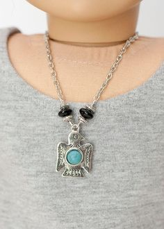 American Girl doll necklace  silver beaded by EverydayDollwear