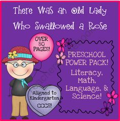 There Was an Old Lady Who Swallowed a Rose PreK Power Pack product from Toadally-Tots on TeachersNotebook.com  FREEBIE in PREVIEW!
