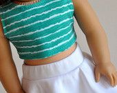 Pineapple Print Crop Top with Yellow Skater Skirt by CircleCSewing