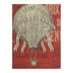 Vintage Steampunk Hot Air Ballon Ride in Red Fleece Blanket - fathers day best dad diy gift idea cyo personalize father family