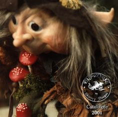 A goblin made by me Shirley Dougan way back in 1984. Used it as a cover piccie for a catalogue in 2001.