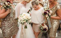 Sparkle wedding dresses, Photo by Megan Robinson