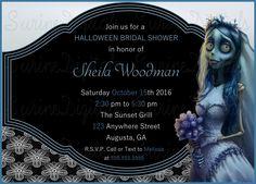 Corpse Bride Themed Bridal Shower Invitation/ Halloween Themed Bridal Shower…