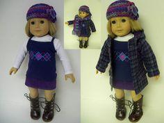 American Girl Doll Clothes - Seven Piece Preppy Winter Set. $57.00, via Etsy.