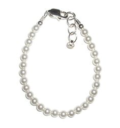 Amazon.com: Made in America! Serenity 2 Sterling Silver Childrens Girls Bracelet Jewelry Dainty Little White Pearls - Perfect for Christenings! Size Small Baby Infant 0-12 Months. Perfect for Christmas, First Communion, Easter, Sunday Dress, Christening or Birthday.: Jewelry