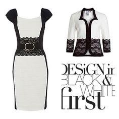 Black + White Joseph Ribkoff Dress and Jacket. #springracing   *Arriving soon   Tel order\enquiries 03 95932007