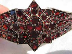 Victorian antiguo bohemia granate pulsera