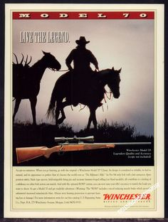 """1996 WINCHESTER Model 70 Classic Bolt Action RIFLE AD """"Live the Legend"""""""