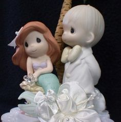 Little Mermaid Precious Moments Wedding Cake Topper P Toppers more at Recipins.com