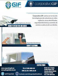En GIF Seguridad tenemos la mejor opción en Seguridad Electrónica CONTACTANOS 018004000GIF(443) Ip Camera, Tecnologia, Home, Management