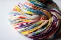Carnivale, Handspun Thick & Thin Yarn, Serene Fiber Arts, Weaving
