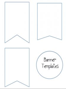 Bunting template for banner | Wedding Decorations/Ideas ...
