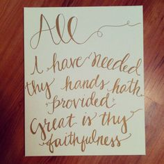 One of my favorite hymn's. Great is Thy Faithfulness Canvas // handlettering // hymn lyrics Bible Quotes, Me Quotes, Bible Art, Biblical Quotes, Scripture Art, Cool Words, Wise Words, Kelsey Rose, Between Two Worlds