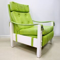 Vinyl Recliner Chair Green now featured on Fab.