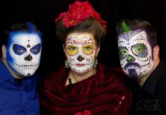Hope Shots Photography Artist Unique Irish Models Steve, Donna W. and Samuel H. Sugar Skull Face painting