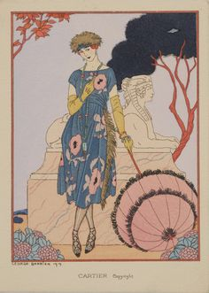 ⍌ Vintage Vogue ⍌ art and illustration for vogue magazine covers - George Barbier - 'Cartier' 1919