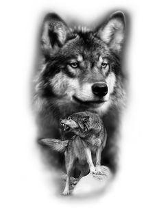 Half Sleeve Tattoos Drawings, Half Sleeve Tattoos Designs, Tattoo Design Drawings, Tattoo Sketches, Body Art Tattoos, Wolf Images, Wolf Pictures, Grandpa Tattoo, Wolf Sleeve