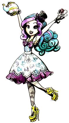 Madeline Hatter Madeline Xylophone Hatter, referred to as, Maddie by her friends, is a 2013-introduced and all-around character. She is part of Alice's Adventures in Wonderland as the next Mad Hatter, and she is a student at Ever After High. In the destiny conflict, she is on the Rebel side out of a general belief that people should be free to choose, though she herself is eager to follow in her father's footsteps. As all Wonderlandians, she has access to Wonderlandian magic, although it…